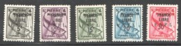 Timbres Taxe Surchargés  <France Libre - F.N.F.L.>  Yv 57-61 * - Timbres-taxe