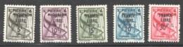 Timbres Taxe Surchargés  <France Libre - F.N.F.L.>  Yv 57-61 * - Portomarken
