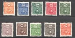 1947  Armoiries - Série Complète  Yv 67-76 * - Portomarken