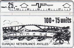 CURACAO - Bridge, First Issue 100 Units, CN : 101A, Tirage 42000, Used - Antillen (Nederlands)