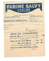 Bon De Commande  Farine Salvy - Cartes