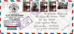 ECUADOR,   Letter,  Birds        /      L`ÉQUATEUR,  Lettre,  Oiseaux,    2003 - Vögel