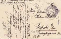 FELDPOST K.K.KRIEGSMARINE S.M.S. BABENBERG - Stempel Auf Glückwunschkarte Gel.1916 Von Marinefeldpostamt POLA > Uhrfahr - 1914-18
