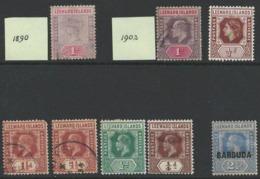 Leeward Islands, Old Stamps Lot - Used, MNH, Mixt Condition - Used - I-17 - Leeward  Islands