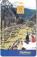 PERU - Machu Picchu(matt Surface), Telefonica Telecard, Chip GEM1.1, Tirage %60000, 08/99, Used - Peru