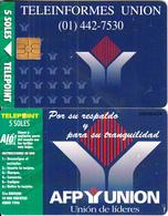 PERU - Teleinformes Union, Tirage 10000, 06/96, Used - Peru