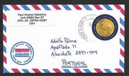 Etats Unis Lettre DPO Bureau De Poste Diplomatique 2018 Voyagé Au Portugal US Diplomatic Post Office Cover To Portugal - Luftpost