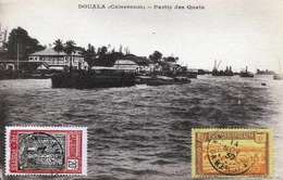 (4 Scans) 1914 Kamerun Cameroun DOUALA - Partie Des Quain, Karte Gelaufen 1914, Sehr Seltene Frankierung (10+20c) - Kamerun
