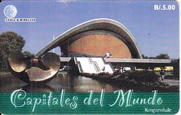 PANAMA(chip) - Capitals Of The World/Congresshalle-Berlin, Chip GEM3.3, Used - Panama