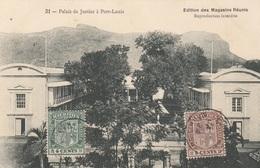 PORT LOUIS (MAURITIUS) - Palais De Justice, Karte Orig.gel.1924, Vorderseitige 2 Fach Frankierung, Sehr Seltene Karte .. - Mauritius