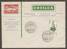 Espagne Illes Canarias Cachet Commémoratif Tournement Int. Echecs 1974 Spain Event Postmark Chess Int. Trophee - Echecs