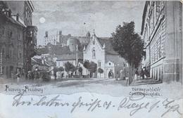Mondscheinlitho POZSONY - PRESSBURG (Slowakei) - Vàrmegyehàztèr - Komitatshausplatz - Karte Gel.1899, Sehr Seltene Karte - Slowakei