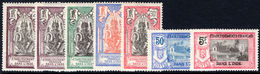 French Indian Settlements 1922 New Colours Set (25c Adherance, 50c No Gum Lightly Mounted Mint. - India (1892-1954)
