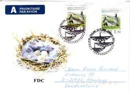 ESTLAND,   Letter,  Birds      /      L`ESTONIE,    Lettre,  Oiseaux     1995 - Oies