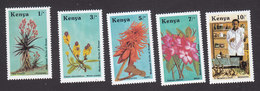 Kenya, Scott #420-424, Mint Hinged, Medicinal Herbs, Issued 1987 - Kenya (1963-...)