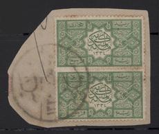 1916 HEJAZ Sherifate Of Mecca - Frammento Con 2 Francobolli Non Divisi - Arabia Saudita