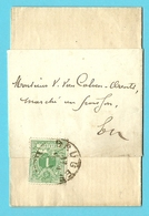 """26 Op DRUKWERK-bandje (imprime) """"Faire Part""""  Met Stempel BRUGES - 1869-1888 Leone Coricato"""
