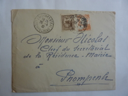 Timbress INDOCHINE  Oblitération SCACHET A DATE SAIGON CENTRAL COCHINCHINE 1932  FEV 2019 Abl7 - Indochine (1889-1945)