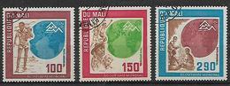 MALI   1975 POSTA AEREA GIORNATA MONDIALE IN NORVEGIA YVERT. 249-251 USATA VF - Mali (1959-...)