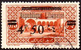 Grand Liban Obl. N°  91 Site Ou Monument - Bkt Et Dine, Surchargé - Grand Liban (1924-1945)