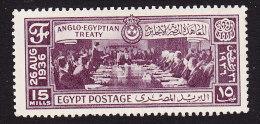 Egypt, Scott #204, Mint Hinged, Signing Of Treaty, Issued 1936 - Ägypten