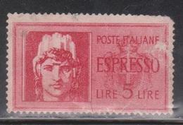 ITALY Scott # E18 Used - Small Rubbed Spot At Right - 1900-44 Vittorio Emanuele III