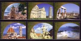 UNO WIEN MI-NR. 373-378 ** KULTUR- Und NATURERBE Der MENSCHHEIT - ITALIEN 2002 - Wien - Internationales Zentrum