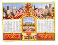 ALMANACH-CALENDRIER1869  CHROMOS   , Second Emprire Napoléon III  Edit Mayoux Et Honoré  Paris - Calendriers