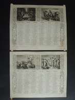 ALMANACH-CALENDRIER  1873 SEMESTRIEL (2)  LITHOGRAPHIE Allégorie Religion  Emprire Napoléon III  Edit DUBOIS-TRIANON Imp - Calendriers