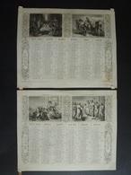 ALMANACH CALENDRIER  1873 2 SEMESTRIEL LITHOGRAPHIE Allégorie Religion  Emprire Napoléon III  Edit DUBOIS-TRIANON Imp - Calendriers