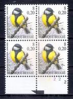 BELGIE * Buzin * Nr 2966  Plaatnr 2 * Postfris Xx * DOF FLUOR  PAPIER - 1985-.. Oiseaux (Buzin)