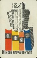 OWL * BIRD * ANIMAL * BOOK DISTRIBUTOR * BOOK STORE * BOOKSTORE * BOOKSHOP * BUDAPEST * CALENDAR * AKV 1969 1 * Hungary - Calendars