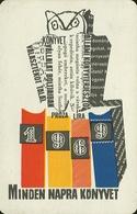 OWL * BIRD * ANIMAL * BOOK DISTRIBUTOR * BOOK STORE * BOOKSTORE * BOOKSHOP * BUDAPEST * CALENDAR * AKV 1969 2 * Hungary - Calendars