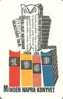OWL * BIRD * ANIMAL * BOOK DISTRIBUTOR * BOOK STORE * BOOKSTORE * BOOKSHOP * BUDAPEST * CALENDAR * AKV 1969 3 * Hungary - Calendriers