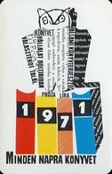OWL * BIRD * ANIMAL * BOOK DISTRIBUTOR * BOOK STORE * BOOKSTORE * BOOKSHOP * BUDAPEST * CALENDAR * AKV 1971 1 * Hungary - Calendriers