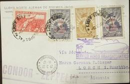 O) 1932 ARGENTINA, CONDOR ZEPPELIN, TRANSATLANTICO SERVICIO AEREO -FRIEDRICHSCHAFEN  BODENSEE, OVERPRINTED  1930 6 SEPTI - Covers & Documents