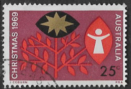 Australia SG445 1969 Christmas 25c Good/fine Used [39/31912/6D] - 1966-79 Elizabeth II
