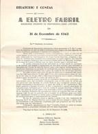 Vila Real De Santo António - A Electro Fabril - 5 Relatórios E Contas, 1943, 1945, 1946, 1947, 1948. Faro. - Portugal
