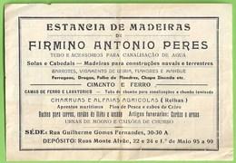 Tavira - Factura Da Estancia De Madeiras. Faro. - Portugal