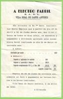 Vila Real De Santo António - Convocatória Para Os Accionistas, 1949. Faro. - Portugal