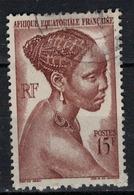 A  E  F         N°  YVERT    224          OBLITERE       ( O   1/ 25 ) - A.E.F. (1936-1958)