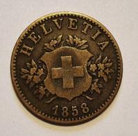SUISSE. 20 RAPPEN 1858. SWITZERLAND. - Svizzera