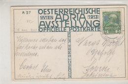 Oesterreichische Adria-Ausstellung Mit Passendem Stempel  Oben Rechts Eckknick - 1918-1945 1st Republic