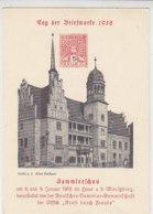Privatganzsache Tag Der Briefmarke 1938 Halle A.S. Blanko Stempel - Covers & Documents