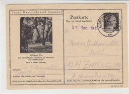 Hitler GS Motiv MÜHLHAUSEN (ELS.) Aus LUDWIGSHAFEN 18.12.44 Nach Zollhaus/Allg. Ank.21.1.45 !! - Deutschland