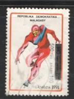 1996  Jeux D'Albertville, Patineur De Vitesse 500FMG Sur 1140 FMG  MiNr 2124, Sc 1482 - Madagascar (1960-...)