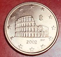 ITALIA - 2002 - FDC -  Moneta - Anfiteatro Flavio (Colosseo) - Euro - 0.05 - Italia