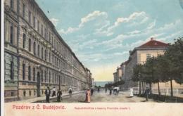 AK - BUDWEIS - Radetzkystrasse - Franz Josef Kaserne 1915 - Tschechische Republik