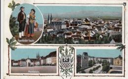 AK -Tschechien -  EGER- Trachtenpärchen - Marktplatz - Theaterplatz - Panorama 1916 - Tschechische Republik