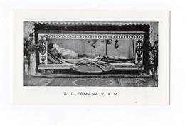 SANTINO Antico Image Pieuse Religieuse Holy Card Santa Clermana Vergine E Martire - Godsdienst & Esoterisme